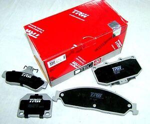 Peugeot 307 2.0L Hdi Bosch Front 05-07 TRW Rear Disc Brake Pads GDB1620 DB2044