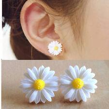 Fashion Womens Cute White Daisy Flower Stud Earrings Jewelry Gift New