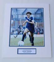 Imre Varadi In Everton Shirt HAND SIGNED Autograph Photo Mount Memorabilia COA