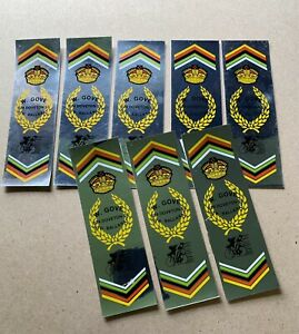 LOT OF 8 GOVE BICYCLES OF BALLARAT VINTAGE FRAME STICKERS