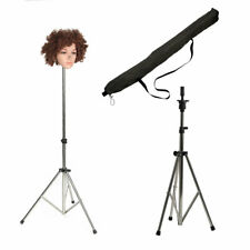 Adjustable Mannequin Training Head Tripod Holder Stand Practice Doll Wig Clamp