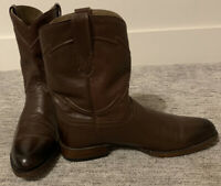 Men's Brown Cuero Cowboy Roper Boots 12D