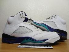 2013 Jordan Retro 5 GRAPE Sz 10 100% Authentic V White 136027 108