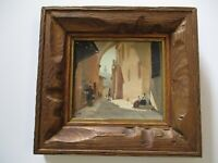 SMALL GEM OIL PAINTING BY NORMA MANSFIELD ORIENTALIST LANDSCAPE BY SCREEN WRITER