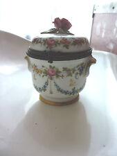 ancien pot  porcelaine saxe,meissen,sèvres,vieux paris  monture en bronze 18eme
