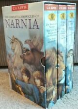 The Complete Chronicles of Narnia Box Set C.S.Lewis 3 Hardback Books VGC