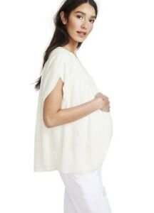 Hatch Maternity Women's THE TULIP BLOUSE Ivory Size 2 (M/8-10) NEW