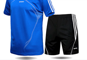 High Quality Loose Men's Sport Suits Quick Dry Running sets Clothes New Sports