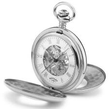 Rotary Pocket Watch Half Hunter Mechanical With Chain MP00712-01