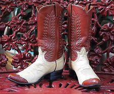 RARE VINTAGE 1970s TONY LAMA LADIES' CUSTOM COWBOY/WESTERN BOOTS,SIZE 6.5B