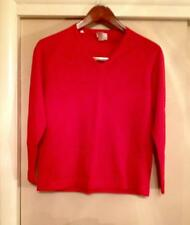 Vintage V-necked Red Sweater Made In Italy