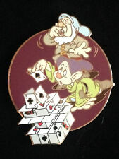 Disney Auctions P.I.N.S. Snow White Seven Dwarfs House of Cards Sneezy Dopey Pin
