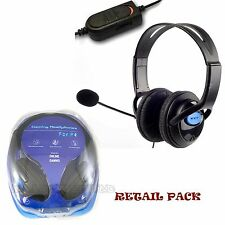 Deluxe Headset Headphone With Microphone Volume Control for PlayStation 4 Pro