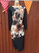 Dusk black floral bodycon dress size 18 BNWT rrp £50