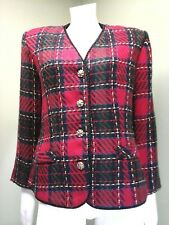 Collaborations Women's Red Plaid Jacket~Size 8