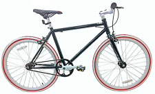 "JUNIOR SIZE FIXIE BIKE 24"" WHEEL 45CM FRAME SINGLE SPD FLIP FLOP HUB MATTE BLACK"