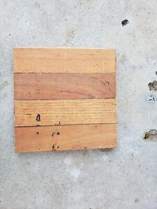 """Oak Wood Parquet Flooring  9"""" x 9"""" x 3/4"""" square ..... 1 (one) square tile"""
