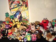 Huge Lot Plush Stuffed Animals Teddy Bears Over 50 Plushie Toys Beanies Dolls