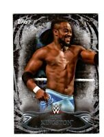 WWE Kofi Kingston #4 2015 Topps Undisputed Black Parallel Base Card SN 41 of 99