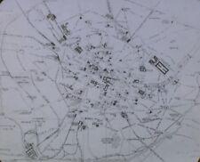 Map of Paris, France, Magic Lantern Glass Slide