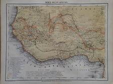 Landkarte von Nord-West - Afrika, Guinea, Ravenstein, Hildburghausen 1872