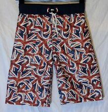 Boys George Red White Blue Union Jack GB Swim Swimming Shorts Age 10-11 Years