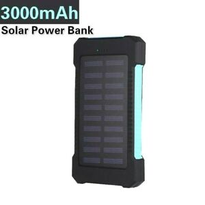 Ultra Thin 30000mAh Solar Portable External Battery Charger Power Bank for Cell
