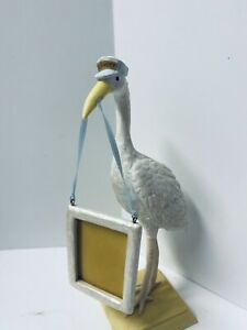 Baby Boy Gift Keepsake Russ Delivery Stork With Picture Frame Hand Painted