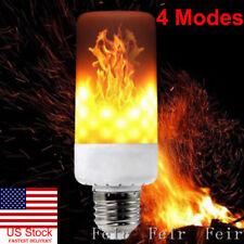 US 4 Mode E27 LED Burn Light Flicker Flame Lamp Bulb Fire Effect Christmas Decor