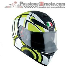 Helmet AGV K3 Sv Pinlock Avior Black Yellow Casque Motorcycle Integral Helm SIZE