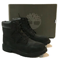 Timberland 6 Inch Premium Black Nubuck/Suede Waterproof Boots Size 6.5Y Mens 6.5