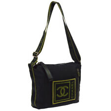 CHANEL Sports Line CC Cross Body Shoulder Bag Black Canvas 10462336 AK38471f