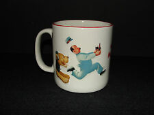 My Goodness My GUINNESS Beer Coffee Mug Lion Chasing Man & Horse Cart Theme