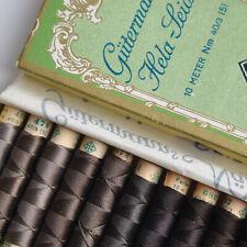 Vintage! 10 M Gütermann Knopfloch- Kordel-Seide HELA Nm 40/3 Sewing thread silk