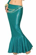 ADULT WOMENS BLUE LAGOON MERMAID COSTUME LONG TAIL FIN SKIRT ARIEL PIRATE