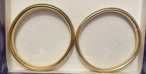 GOLD  FILLED BANGLE BRACELETS ONE MARKED WEH 1/10 14k gf