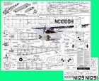 "Model Airplane Plans (UC-FF): Berkeley AERONCA SEDAN (floats) 1/12 Scale 37½""ws"