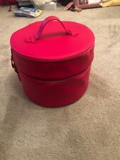 Lancome Cerise Pink Double Vanity/Makeup  Case  - Two cases clipped together-New
