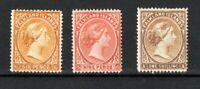 Falkland Islands 1891-1902 6d, 9d and 1s MLH