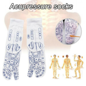 1Pair Men Women Foot Pressure Point Acupuncture Reflexology Socks Massage