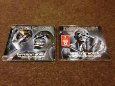 IRON MAIDEN DIFFERENT WORLD 2 DISC SET CD & DVD MINT AS NEW WAREHOUSE FIND!