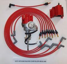 CHRYSLER 440 1973-78 RED Small Female Cap HEI Distributor,coil, Spark Plug Wires