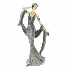 "Art Deco Midnight Shimmer ""Shirley"" Lady Figurine Statue 60749"