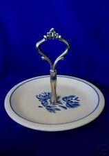 Vintage PFALTZGRAFF Blue Yorktowne Handle Tidbit Handle Plate - Made in U.S.A.