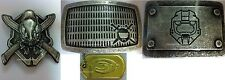 ALL NEW 3 HEAVY DUTY METAL BELT BUCKLES AND 1 GOLD DOG TAG FOR HALO 3 XBOX 360