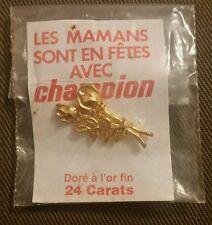 Pin's doré à l'or fin 24 carats supermarché champion COLLECTOR