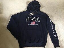 NEW USA American Flag America Washington DC Pull-over Sweatshirt Hoodie Blue