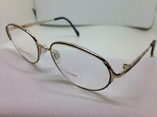 Austin & James Rx Eyeglasses 203 Blueviolet 52/17/130 Round Black Gold Men's