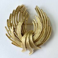 Vintage Gold Statement Pin The Wave!
