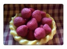 Medium wax strawberries,embeds,tarts . Set of 15 Free Shipping